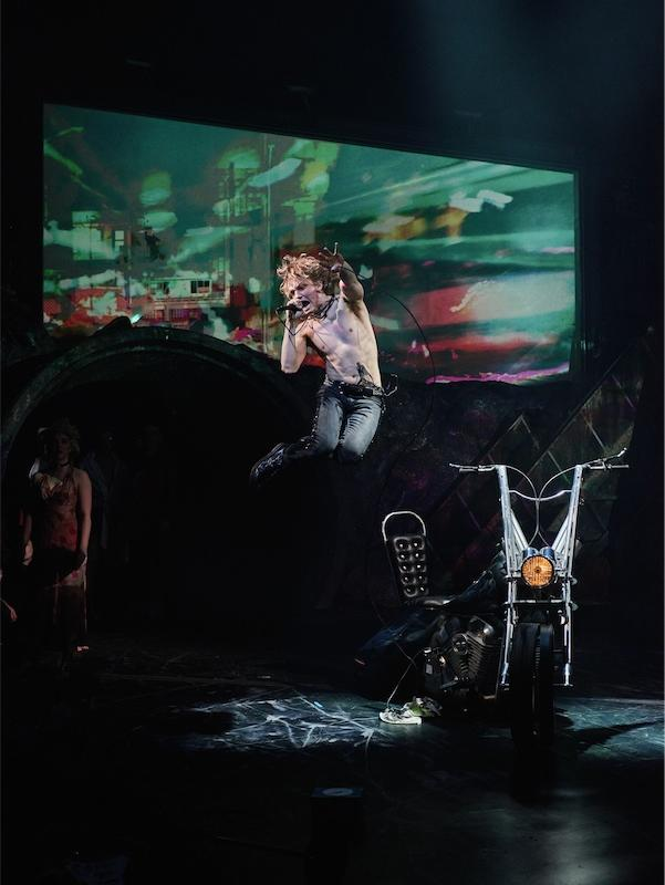 Andrew Polec as Strat in BAT OUT OF HELL - THE MUSICAL, credit Specular