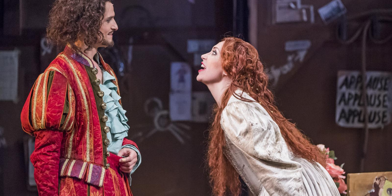 Quirijn de Lang as Petruchio and Stephanie Corley as Kate