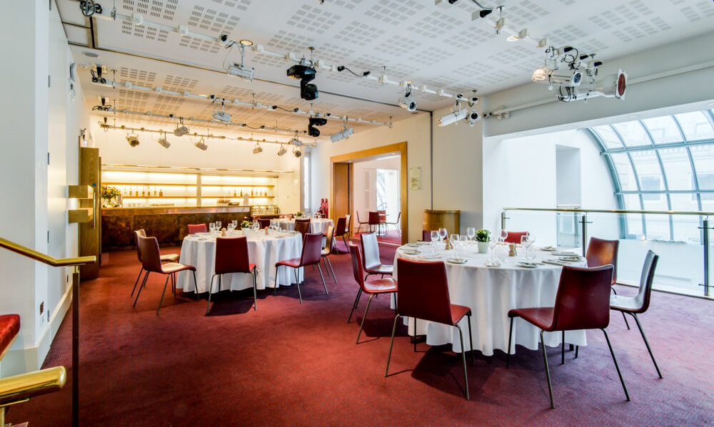 The Balcony Bar Dinner Set Up at London Coliseum © Karen Hatch