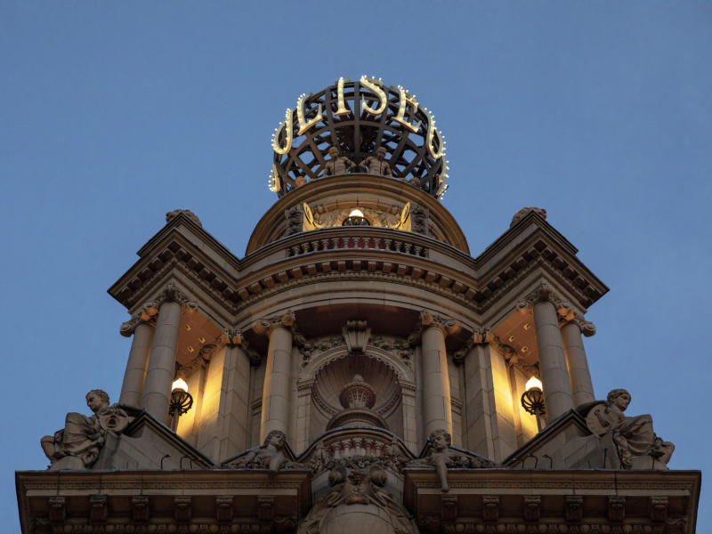 London Coliseum Globe at Night
